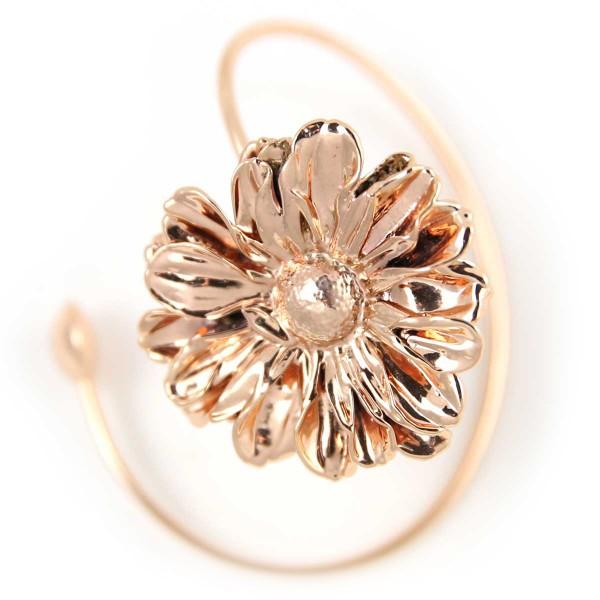 Bracciale di vero fiore di margherita placcato oro rosa