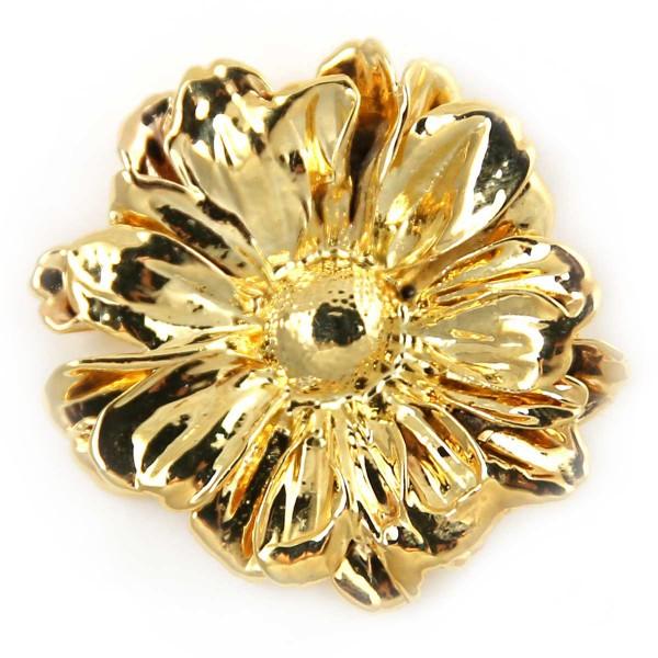 Ciondolo vero fiore di margherita placcato oro
