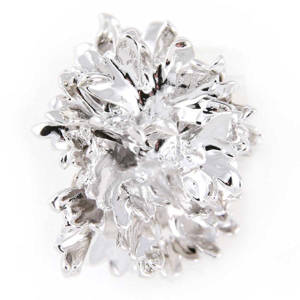 Ciondolo vera foglia di prezzemolo placcata argento