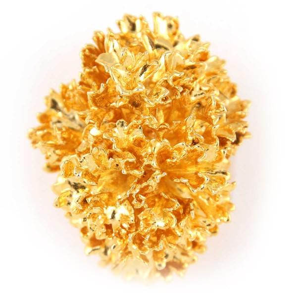Ciondolo vera foglia di prezzemolo placcata oro